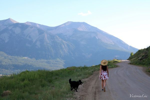 Victoria Lise Walks Dirt Road Colorado Color