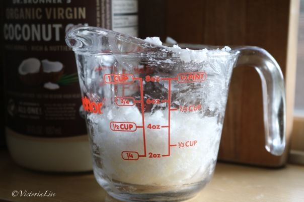 Victoria Lise DIY Body Butter Measuring Cup with Coconut Oil