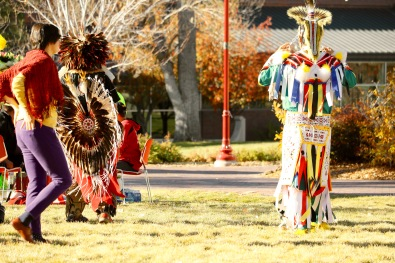 Victoria Lise Colorful Regalia at Standing Rock Solidarity Gathering