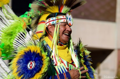 Victoria Lise National Day of Action at DU Laughing Native Dancer