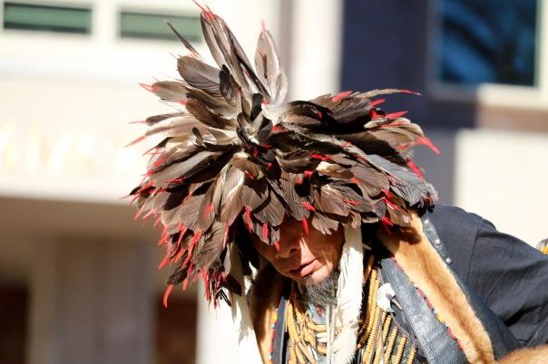 Victoria Lise Standing Rock Support Gathering Native Dancer Makes Offering