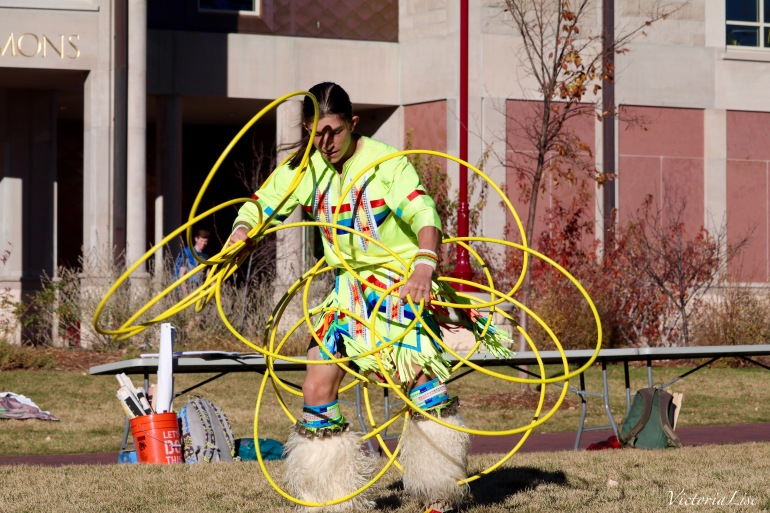 Victoria Lise Native Youth Hoop Dancer at Du Water Protector Gathering
