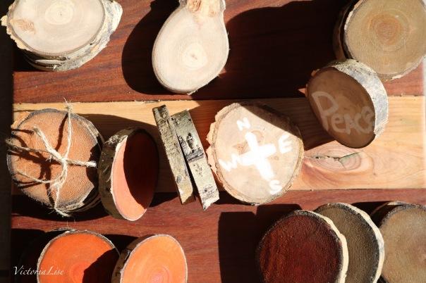 Diy rustic wood coasters victorialise for Diy rustic coasters