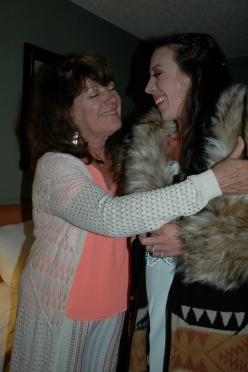 Victoria Lise Smiles While Hugging Mom