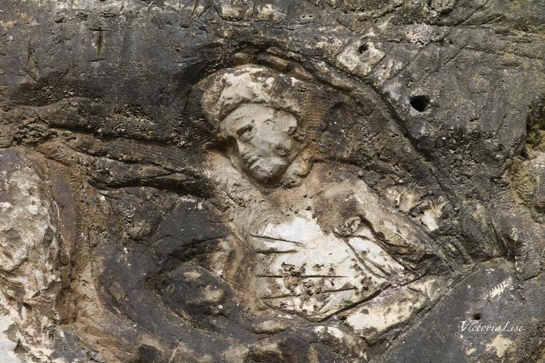 Victoria Lise HoneyMooners Return Mermaid carved in rocks