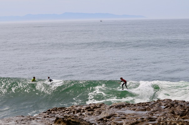 Victoria Lise Photographs Young Surfer Catching Wave