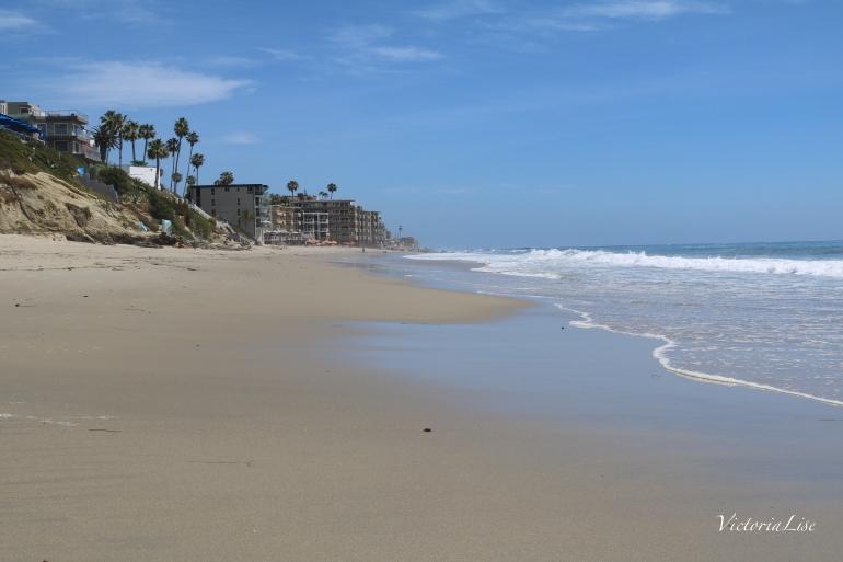 Victoria Lise blue skies on Laguna Beach