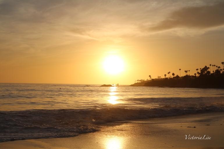 Victoria Lise Captures Laguna Sunset during Honeymoon