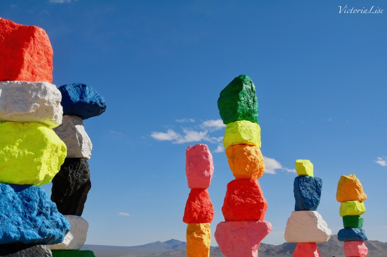 Victoria Lise Seven Magic Mountains Against Blue Sky