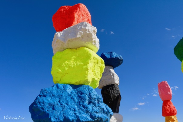 Victoria Lise Seven Magic Mountains by Ugo Rondinone in Nevada