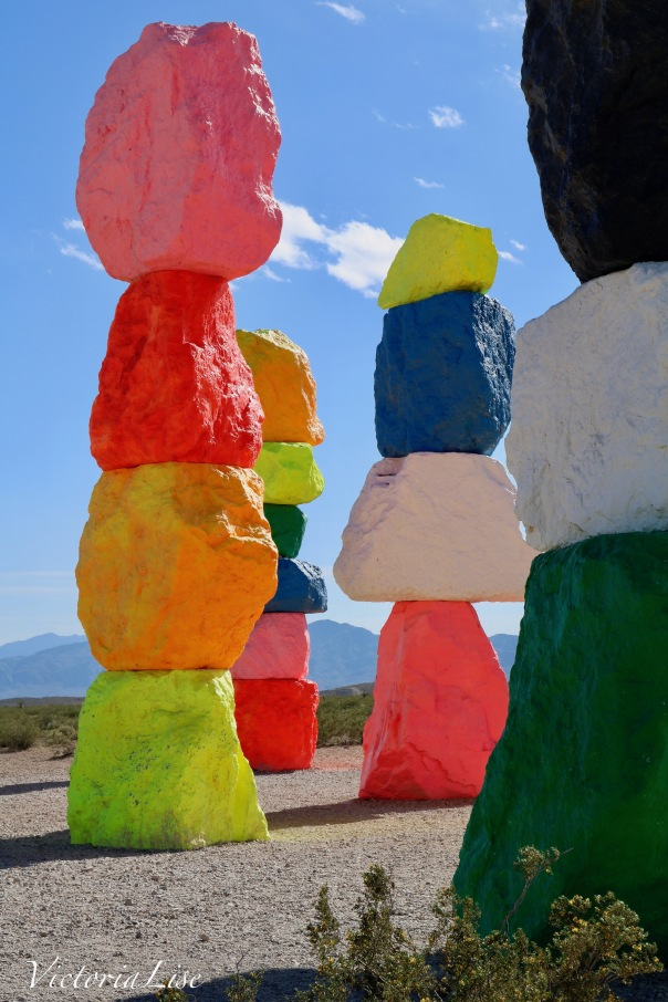 Victoria Lise Visits Seven Magic Mountains in Nevada