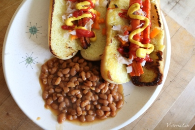 Victoria Lise Vegetarian BBQ Carrot Dogs