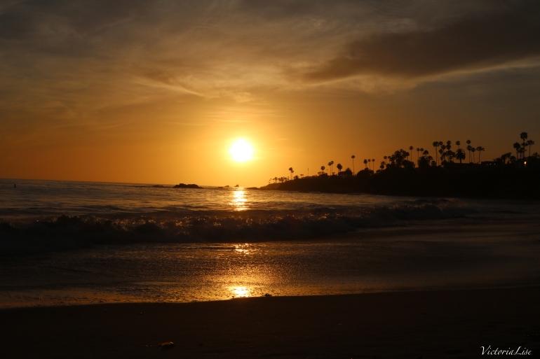 Victoria Lise California Laguna Beach Sunset