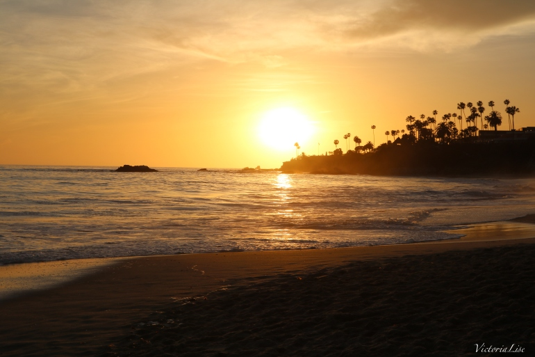 Victoria Lise Sunset on Laguna Beach California