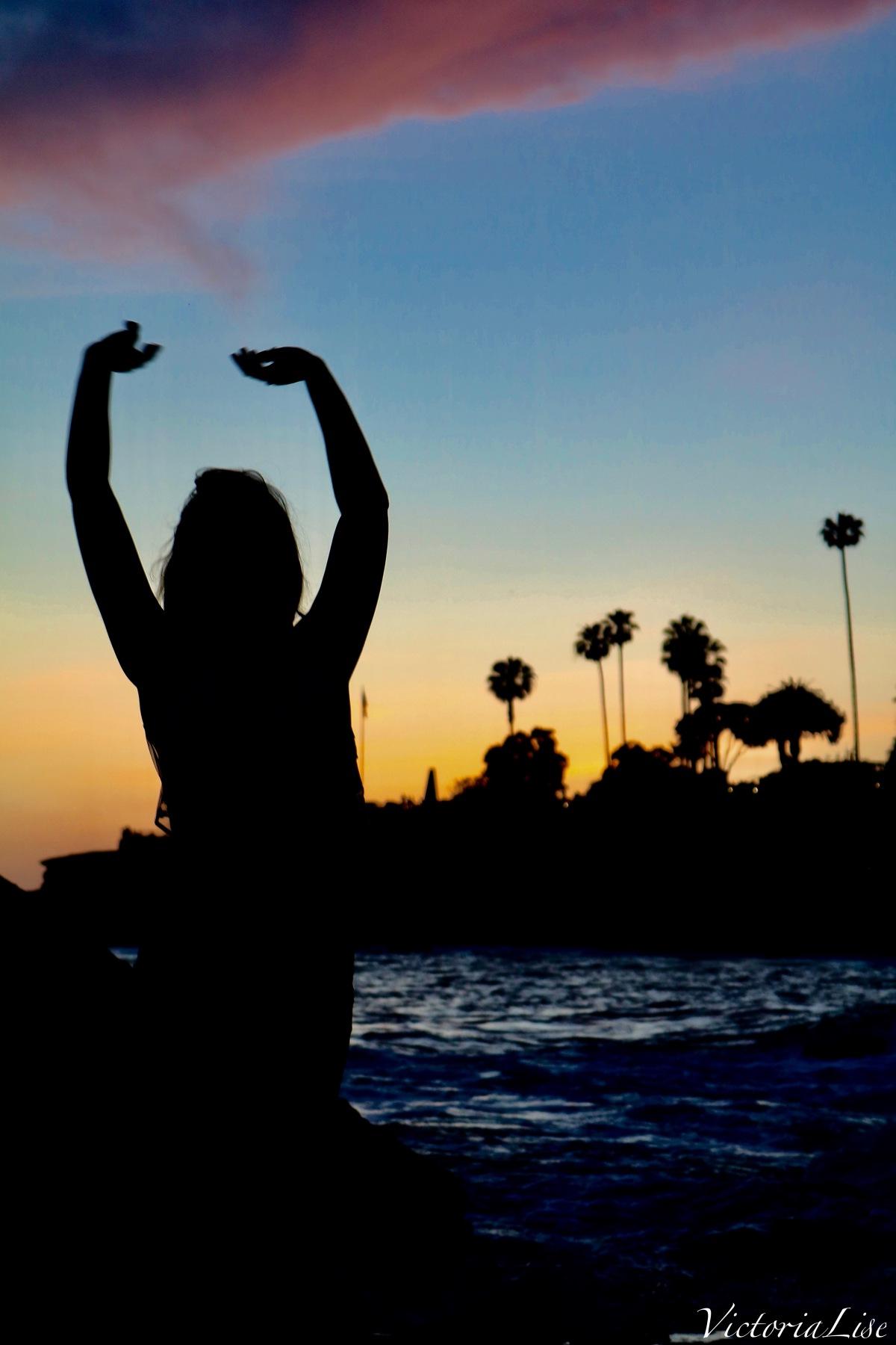 Victoria Lise Looks at Laguna Beach Sunset