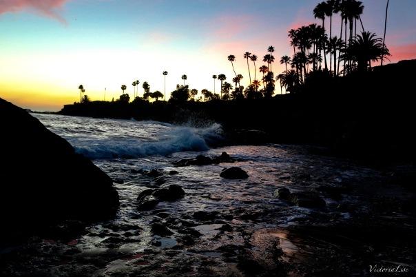 Victoria Lise Laguna Beach Sunset Lights Up the Sky
