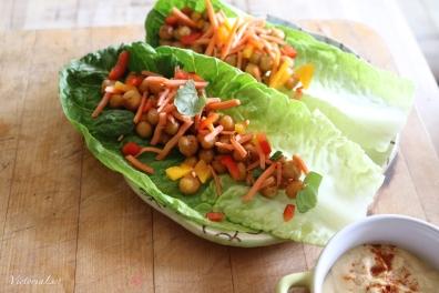Victoria Lise Veggie Recipe Chickpea Lettuce Wraps