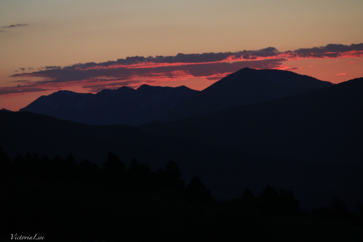 Victoria Lise Magic Hour Gunnison County Red Sunset over Anthracites