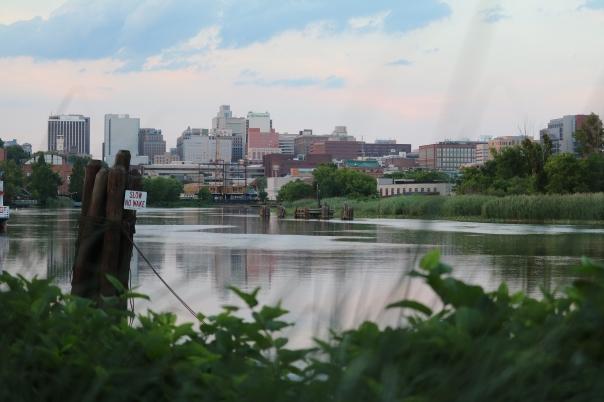 Victoria Lise Wilmington Delaware City line along Christina River