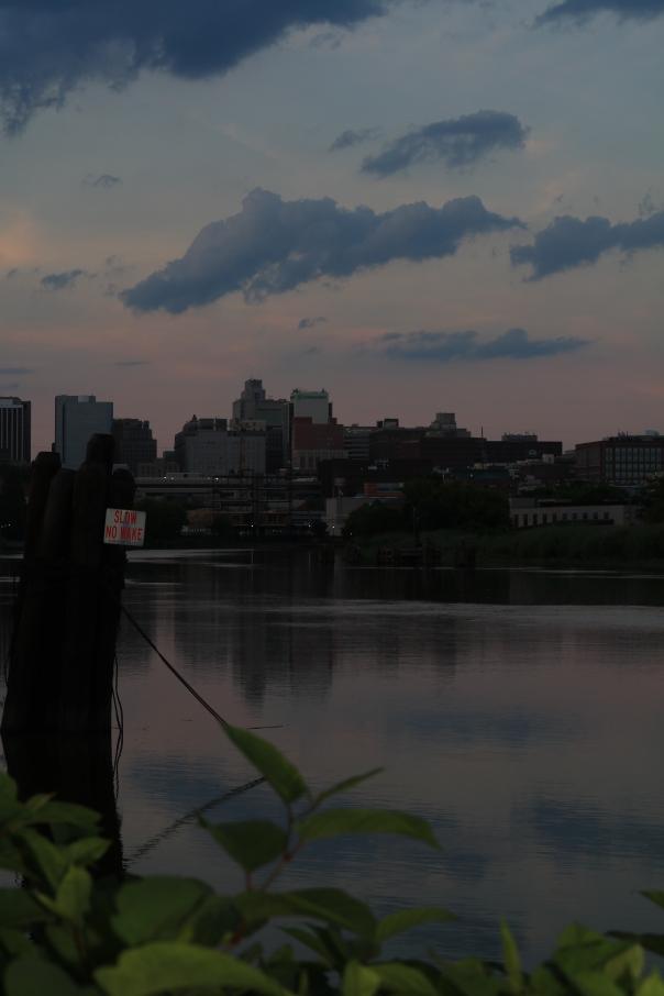 Victoria Lise Sunset reflection on Christina River
