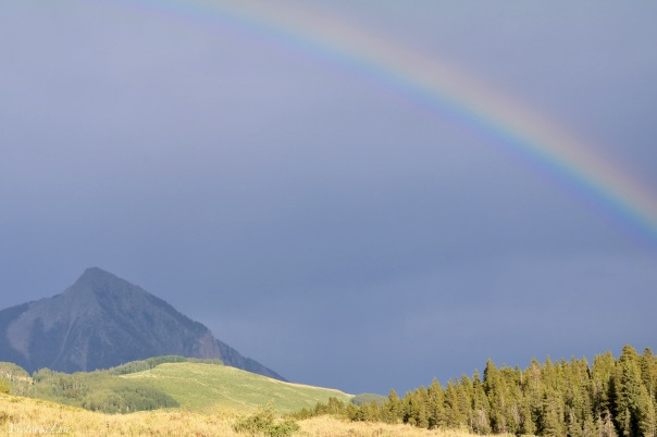 Victoria Lise Rainbow Overtop Mt. Crested Butte
