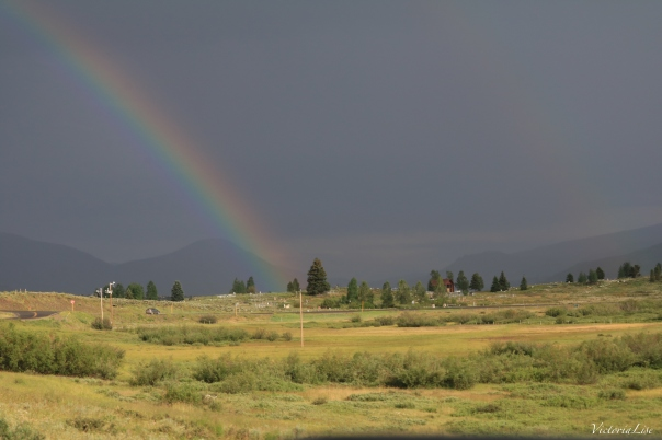 Victoria Lise Rainbow Glows Over Crested Butte