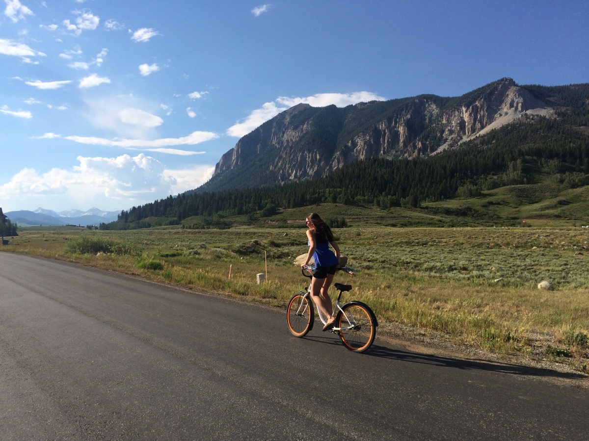 Victoria Lise On Bike In CB Colorado