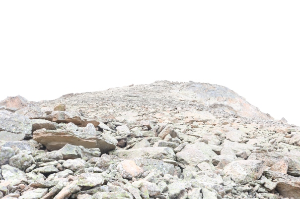 Mt. Crested Butte peak under heavy cloud coverage