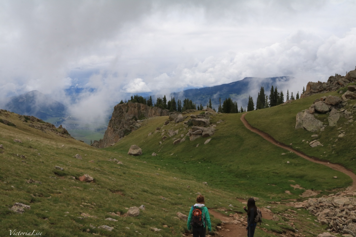 Victoria Lise hiking Crested Butte mountain trail
