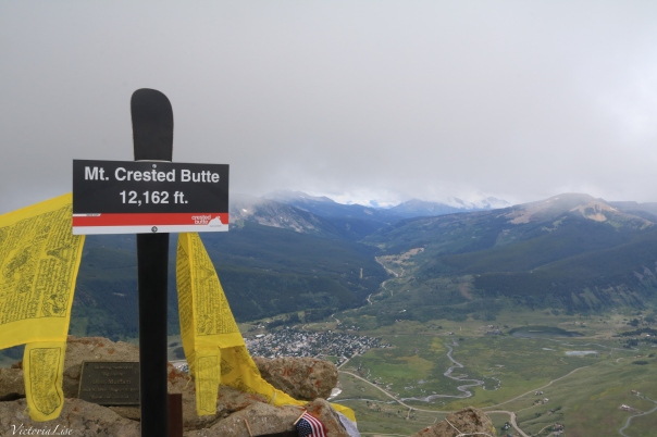 Peak of Mt. Crested Butte looking down valley