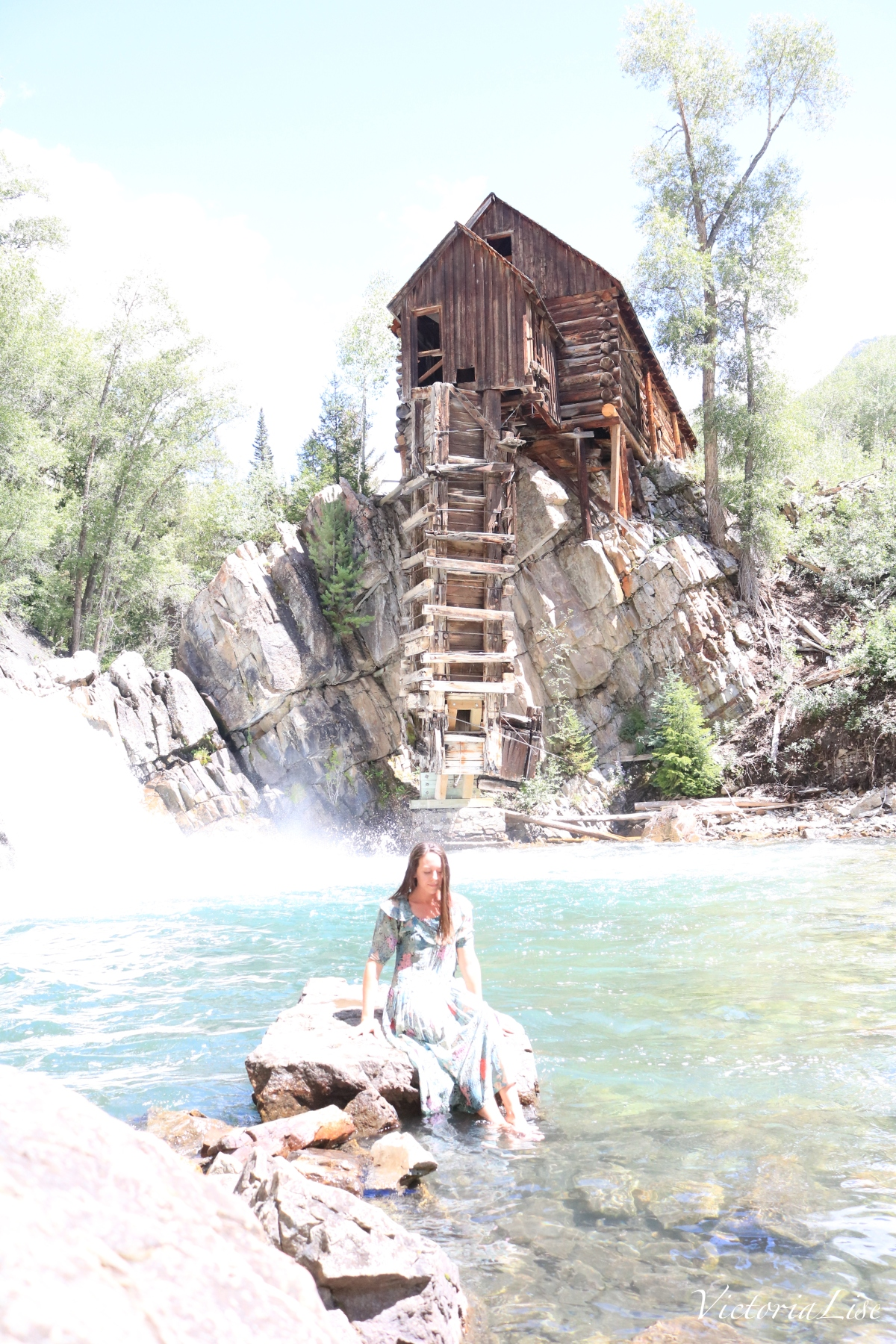 Victoria Lise in Crystal Waters next to Crystal Mill