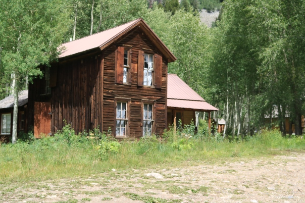 Old Hotel in ghost town of Crystal, Colorado