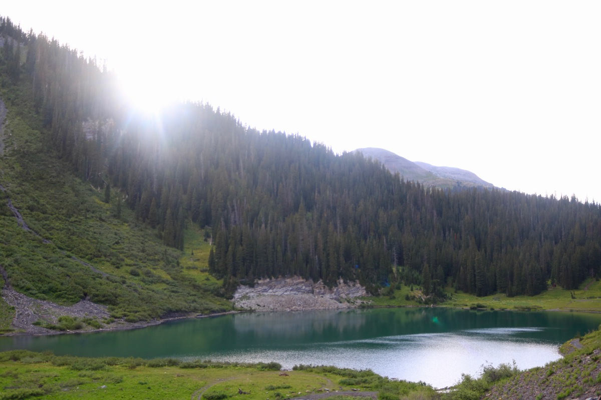 Emerald Lake high alpine lake at dusk