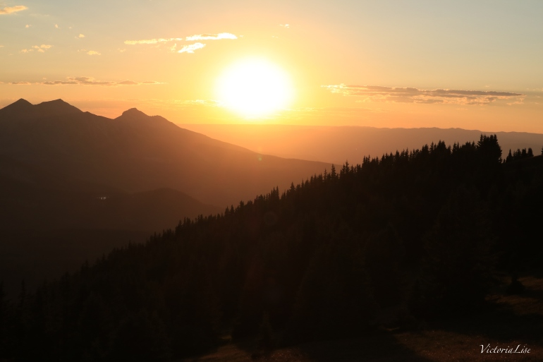 Colorado sunset from the peak of Mt. Axtell