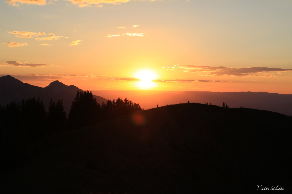 Late summer sunset from the high alpines of Colorado