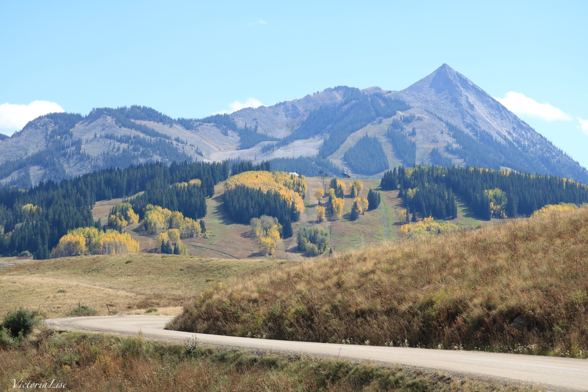 Ski area of Mt. Crested Butte with fall colors