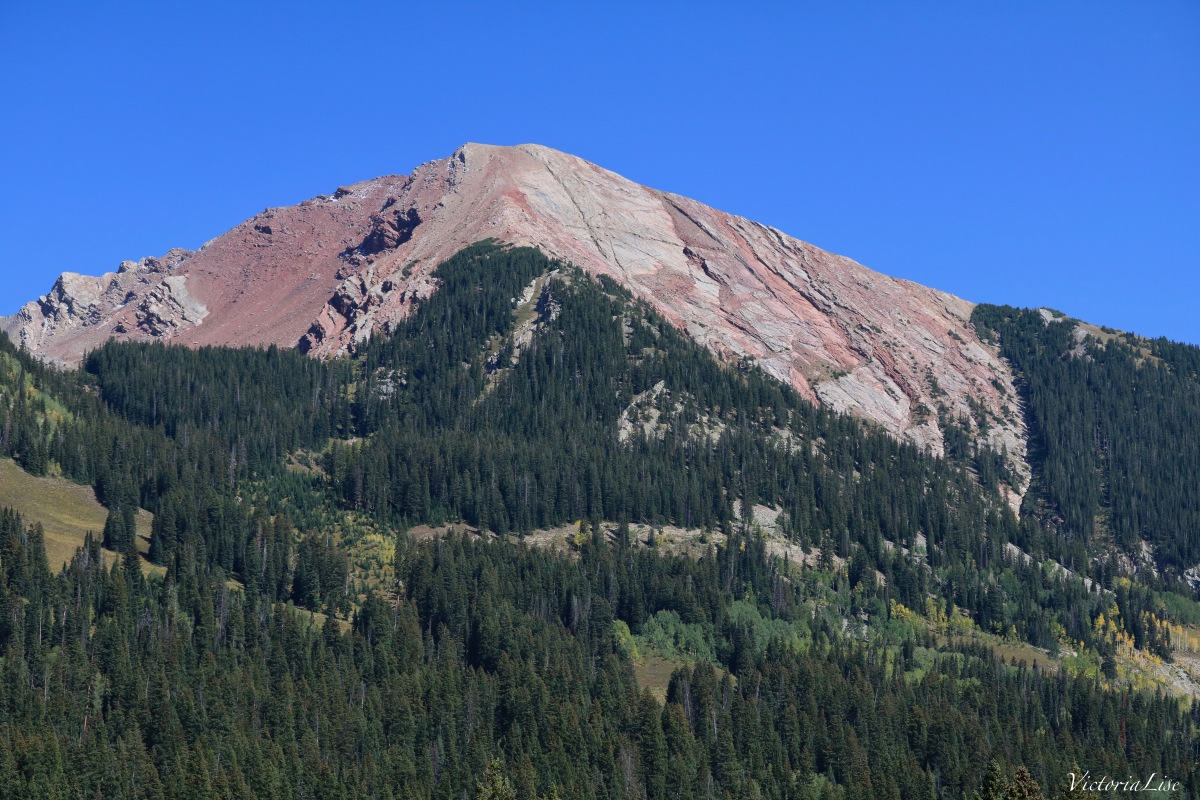 Avery Mountain and a sea of pines Colorado VL