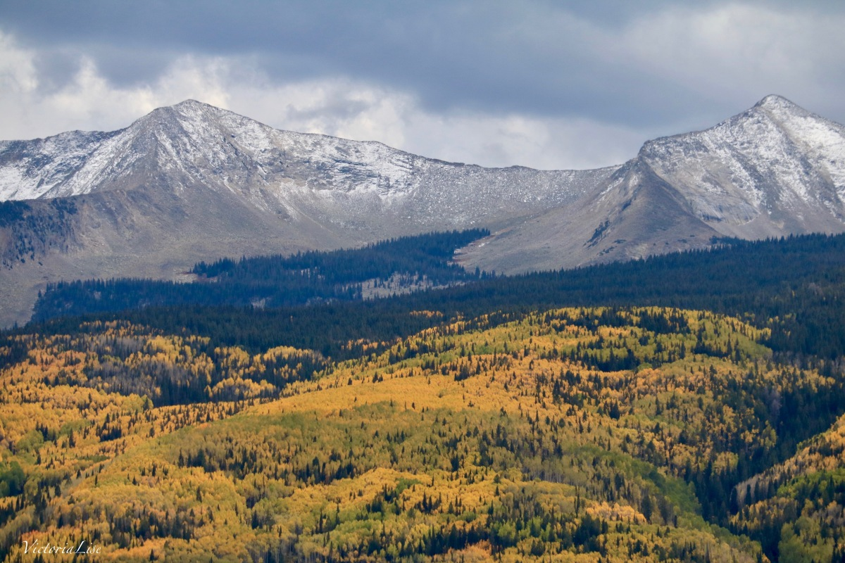 West Elk Mountains of Colorado doing fall season. Victoria Lise 2017