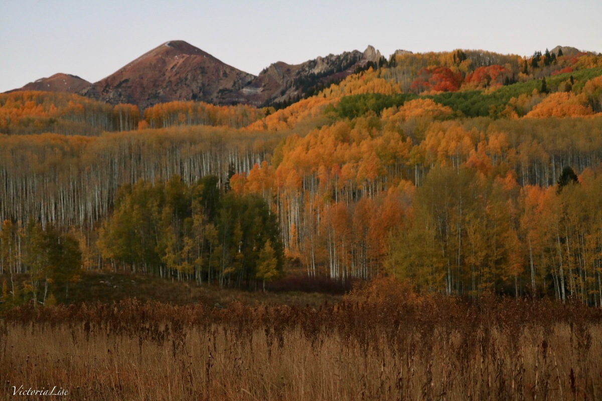 Colorful Colorado at dusk. Autumn 2017 Victoria Lise