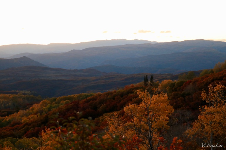 Layers of mountains and fall colors. Colorado 2017. Victoria Lise