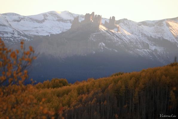The Castles during fall, near Gunnison. Colorado