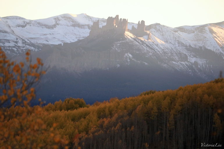 The Castles during fall, near Gunnison. Colorado