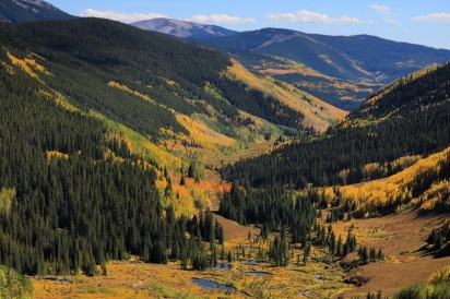 Crested Butte's Brush Creek fall foliage at peak season, Colorado