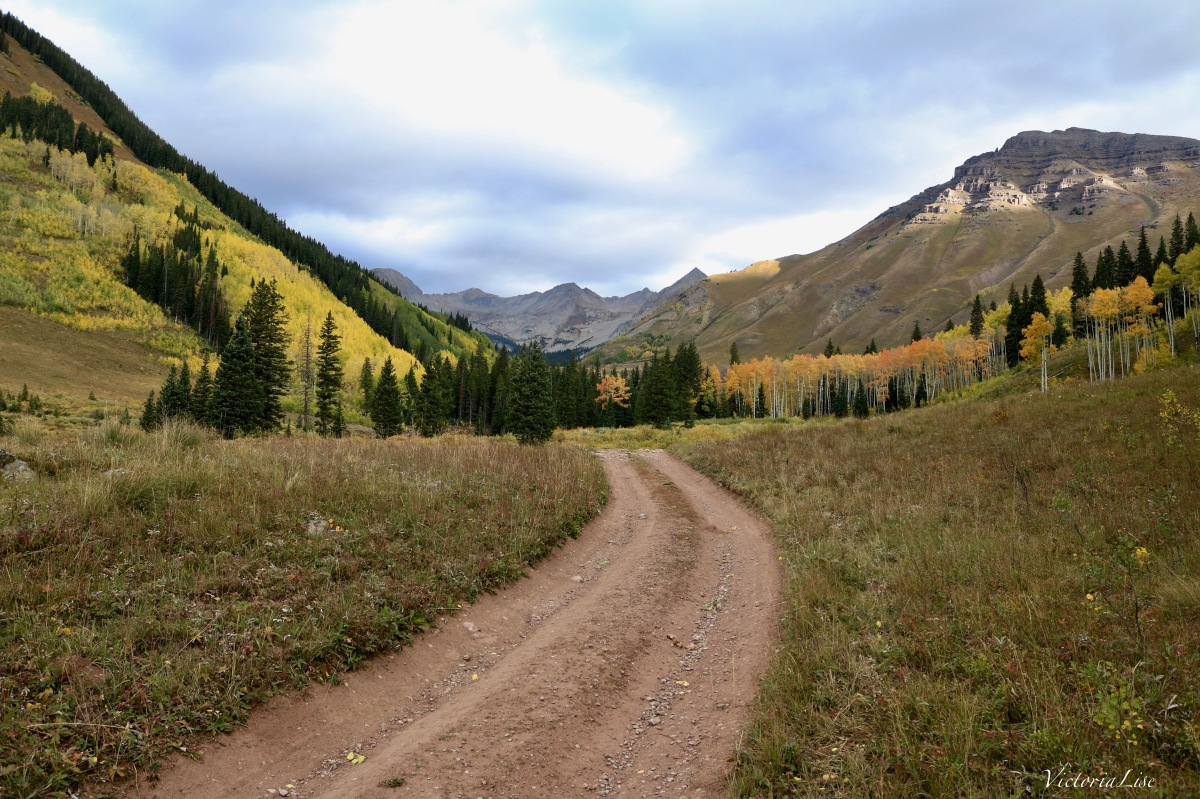 West Brush Creek Road leading to Teocalli, Colorado