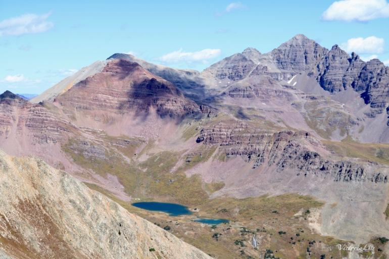 Castleabra, Castle, and Conundrum Peaks surround Twin Lakes Colorado