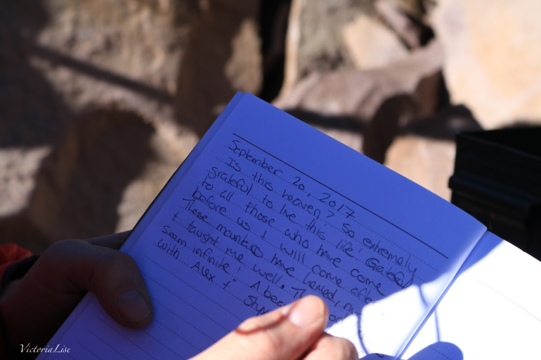 Log book at the summit of Teocalli 13,208 feet Colorado