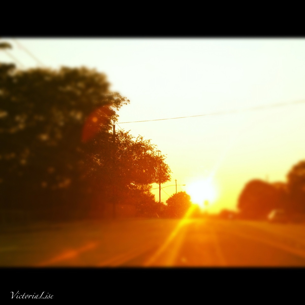 Route 4 sunset, Delaware. Victoria Lise 2012