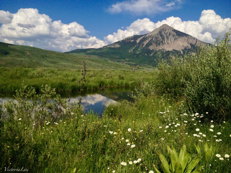 Mt. Crested Butte from Peanut Lake. Victoria Lise 2013