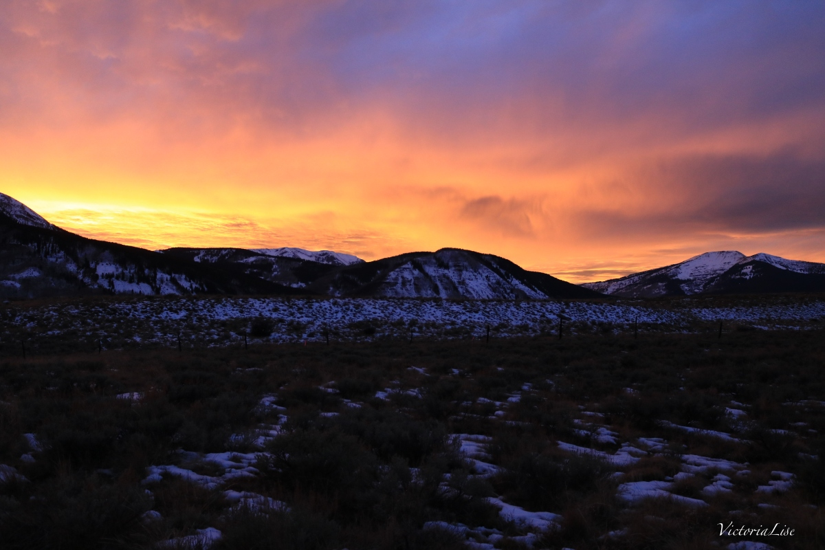 Sunset Over Western Gunnison County.Victoria Lise 2017