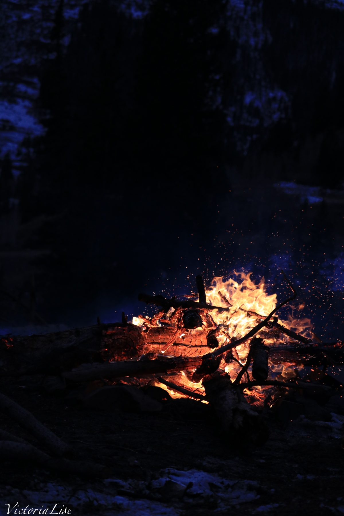 Campfire, Rocky Mountain Style. ©Victoria Lise 2017.